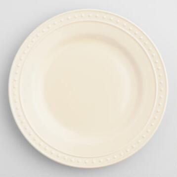Ivory Nantucket Dinner Plates, Set of 4