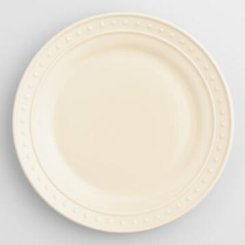 Ivory Nantucket Salad Plates, Set of 4