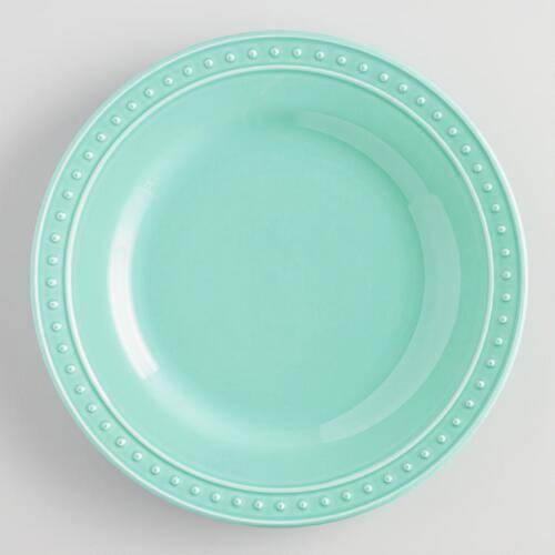 Aqua Nantucket Dinner Plates, Set of 4