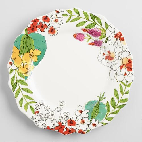 Fiji Foliage Dinner Plates, Set of 4