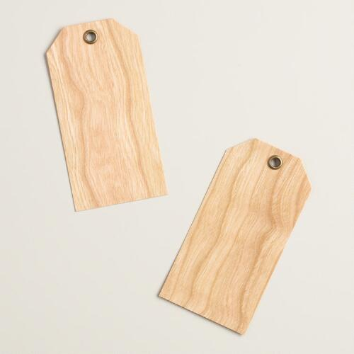 Cherry Wood Gift Tags, Set of 10