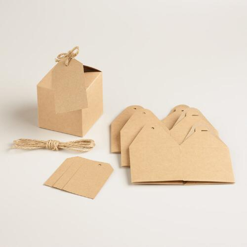 Small Kraft Gift Boxes, Set of 4