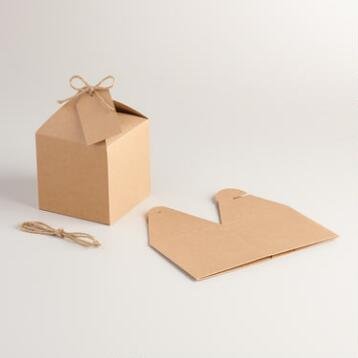 Medium Kraft Gift Boxes, Set of 2