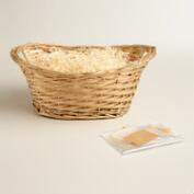 Basket Kit with Gold Handle
