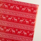 Jumbo Fair Isle Deer Wrapping Paper Roll