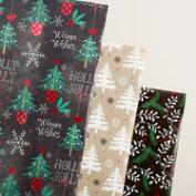 Chalkboard and Burlap Tree Wrapping Paper Rolls, 3 Pack