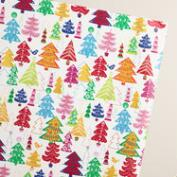 Jumbo Festive Trees Wrapping Paper Roll
