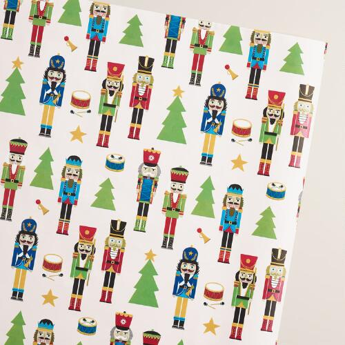 Jumbo Nutcracker Wrapping Paper Roll