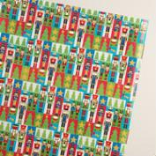 Jumbo Check Nutcrackers Wrapping Paper Roll