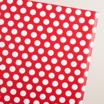 Jumbo Retro Santa Dots Wrapping Paper Roll