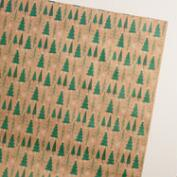 Woodland Trees Kraft Wrapping Paper Roll
