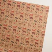Woodland Friends Kraft Wrapping Paper Roll