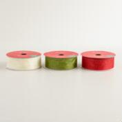 12 Yard Glitter Organza Ribbon, 3-Pack