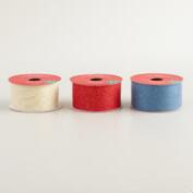 5 Yard Glitter Organza Ribbon, 3-Pack