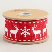 Reindeer Ribbon, 2-Pack