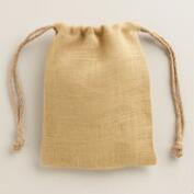 Burlap Pillow Gift Bags, Set of 3