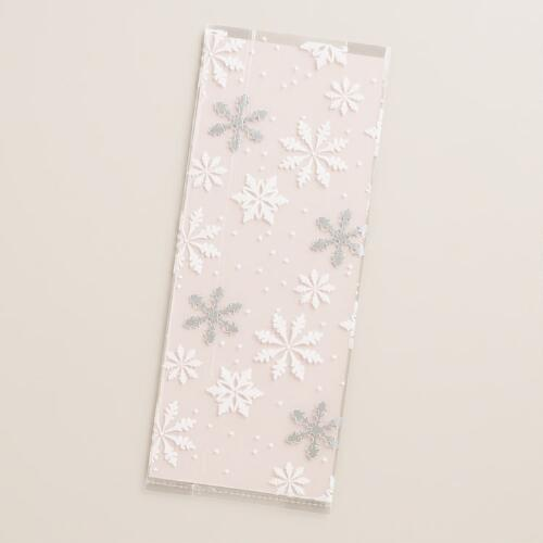 Snowflake Cello Goodie Bags, 16-Pack
