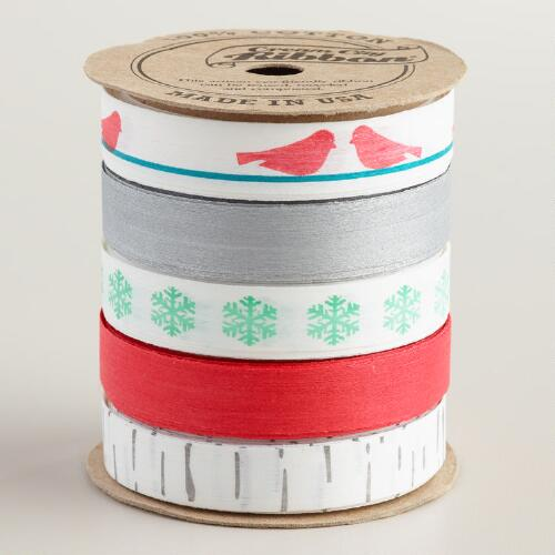 Snowbird Cotton Ribbon, 5-Pack