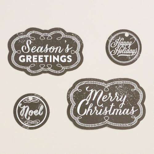Chalkboard Gift Tags, 60 Count