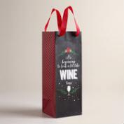 Looks Like Wine Christmas Wine Bags, Set of 2