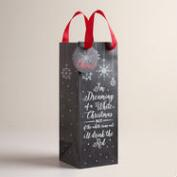 Christmas Message Wine Bags, Set of 2
