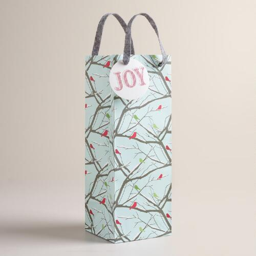 Christmas Branches Wine Bags, Set of 2