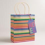 Medium Festive Stripes Gift Bags, Set of 2