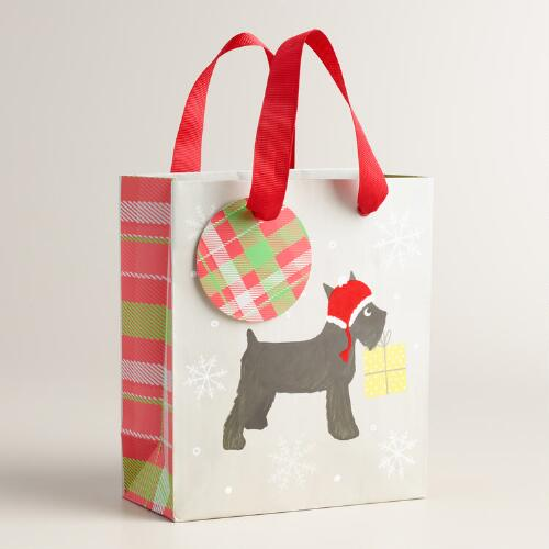 Small Schnauzer Puppy Gift Bags, Set of 2