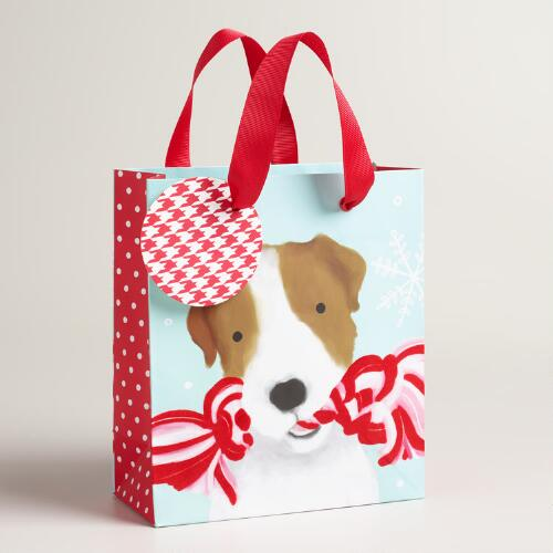 Small Puppy with Toy Gift Bags, Set of 2