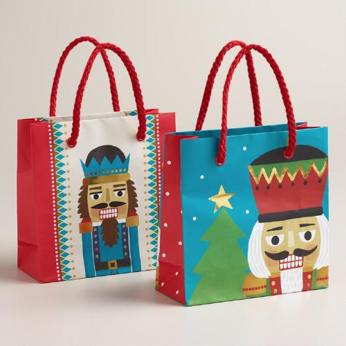 Mini Nutcracker Gift Bags, Set of 2