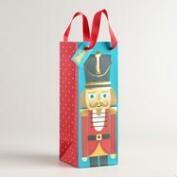 Blue Nutcracker Wine Bags, Set of 2