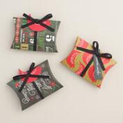 Christmas Message Gift Card Pouches, Set of 3