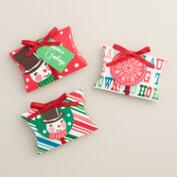 Retro Santa Gift Card Pouches, Set of 3