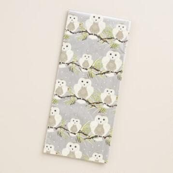 Frosty Owls on Branch Tissue Paper, 2 Pack