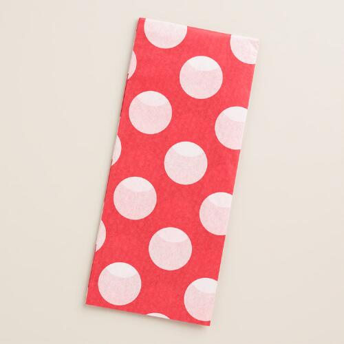Retro Santa Red Dots Tissue Paper, 2 Pack