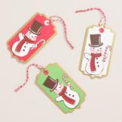 Retro Snowman Gift Tags, Set of 6