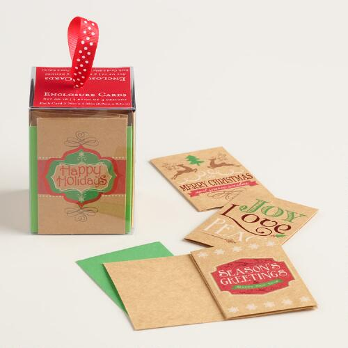 Kraft Holiday Gift Tags, Set of 12