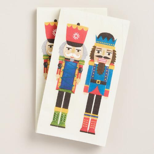 Nutcracker Guest Napkins, 2 Pack