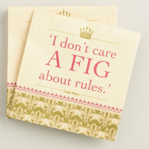 Downton Abbey Fig Beverage Napkins Set of 2