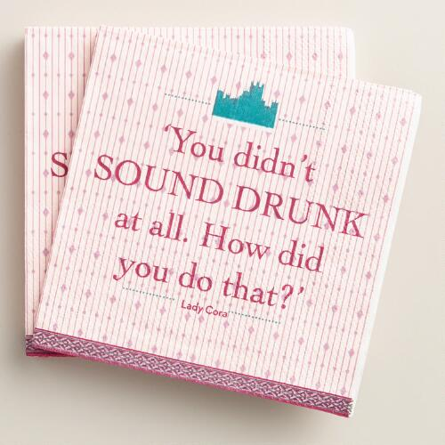 Downton Abbey Beverage Napkins Set of 2