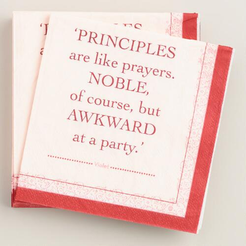 Downton Abbey Principles Beverage Napkins Set of 2