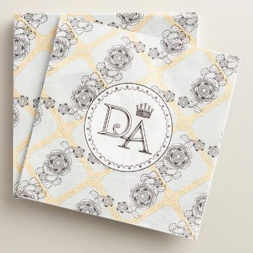 Downtown Abbey Crest Lunch Napkins Set of 2