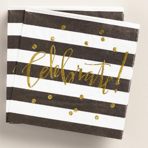 Celebrate Beverage Napkins 20 Count