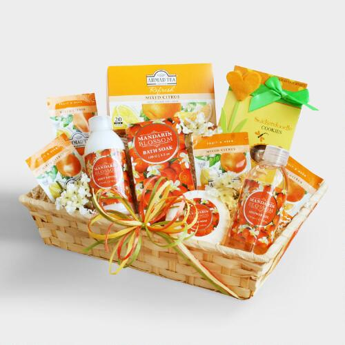 Winter Citrus Spa and Tea Gift Basket
