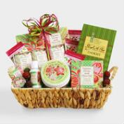 Fresh and Festive Holiday Spa Gift Basket