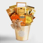 Gold Holiday Ornament Gift Tin