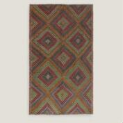 6.3x10.5 Vintage Multicolor Diamond Turkish Area Rug