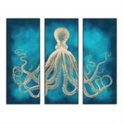 Octopus Sea Life Wall Art 3 Piece
