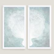 Water Stained Coral Wall Art 2 Piece