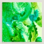 Green Transparent Approach Wall Art